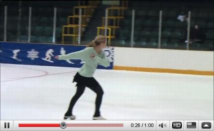すごいアイススケートのウオーミングアップルーティン